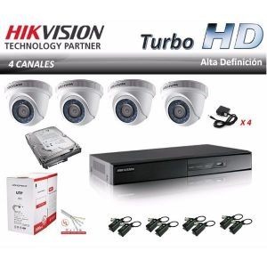 kit de cámaras domo hikvision