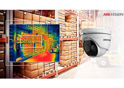 cámaras térmicas 8mp domo