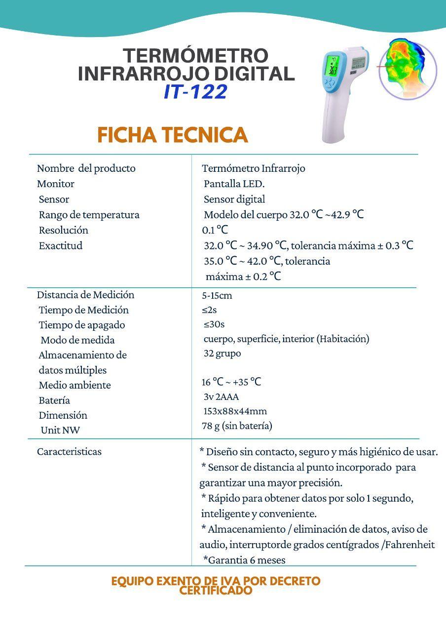 Termometro Infrarrojo Para Medicion De Temperatura Corporal Mundo Tecnologico De Colombia Somos especialistas en instrumentación de medida. termometro infrarrojo para medicion de temperatura corporal